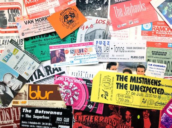Cuando las entradas de conciertos eran pequeu00f1os tesoros ...