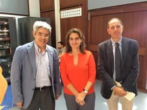 Con Teresa Ribera y Xavier Labandeira (Director de la Escuela de de Regulación Climática del Instituto Europeo de Florencia)
