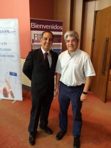 Con un colega de Perú