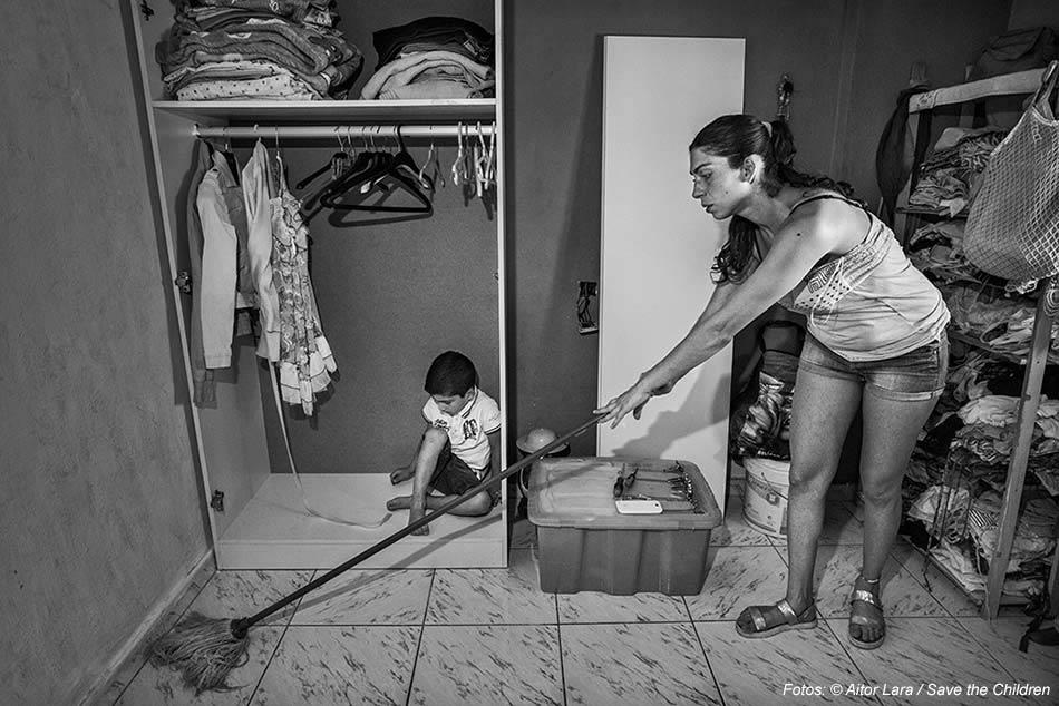 Pobreza infantil,pobreza,madre,exclusión