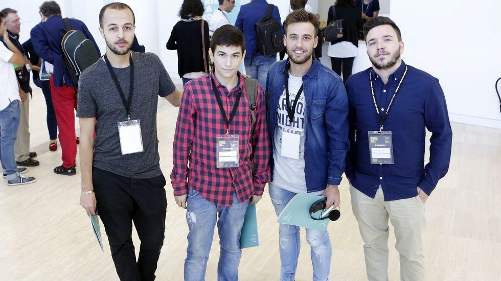 Ibrahim, Quique, Xabier y José Antonio Foto Xoan A. Soler