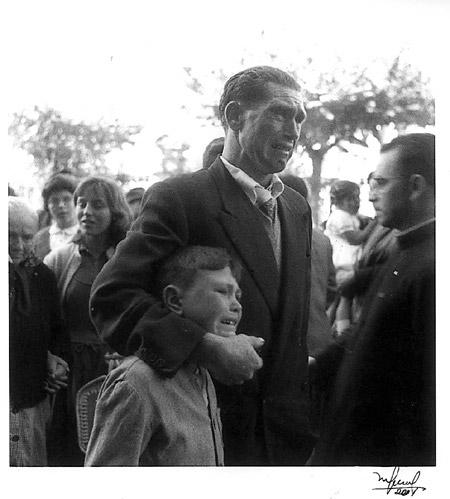 Despedida emigrantes A Coruña 1956 Foto: Manuel Ferrol