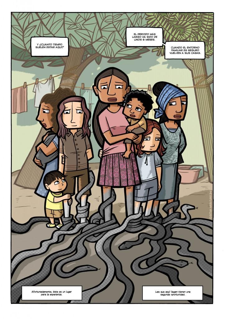 Comic Niñas Abuso sexual Nicaragua Cooperación
