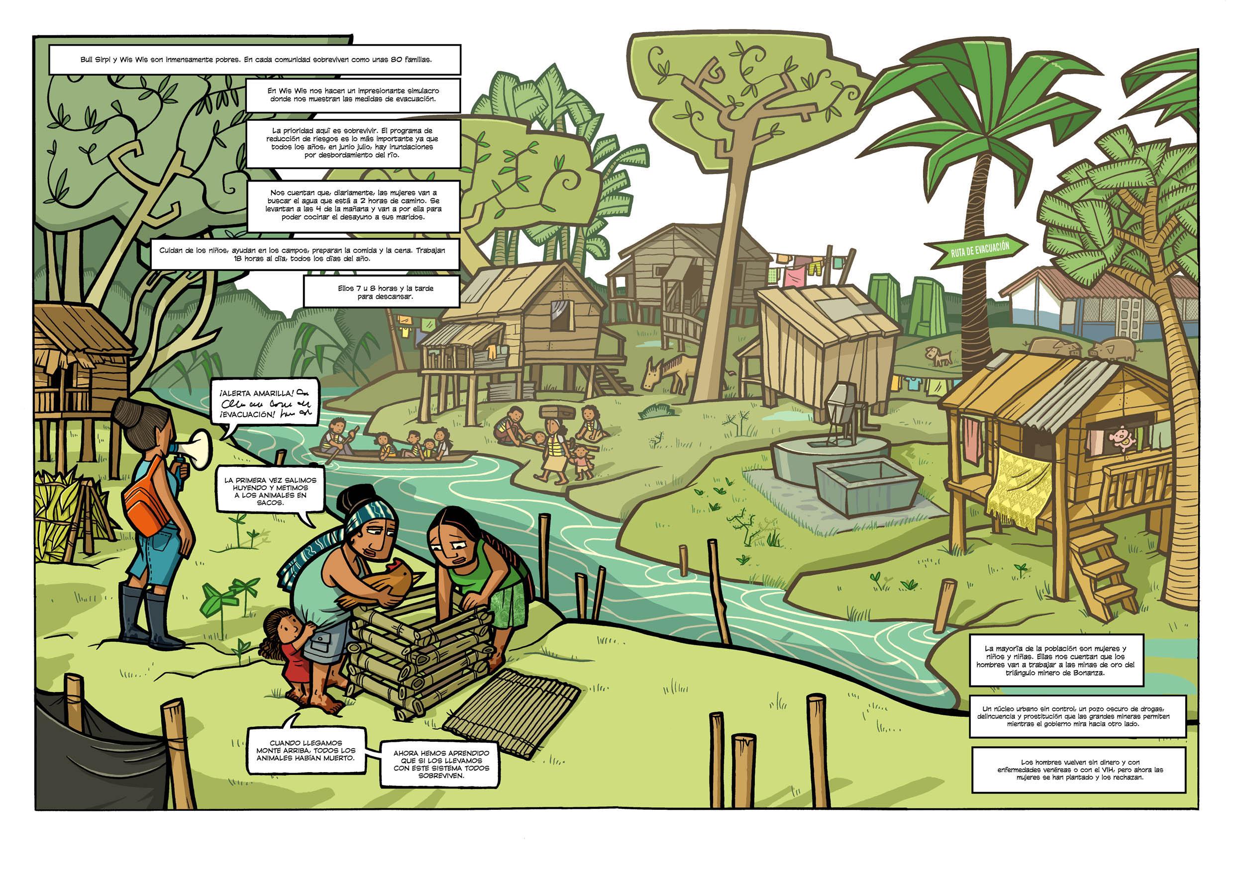 Comic Ondas en el Rio Pobreza Cooperación Nicaragua