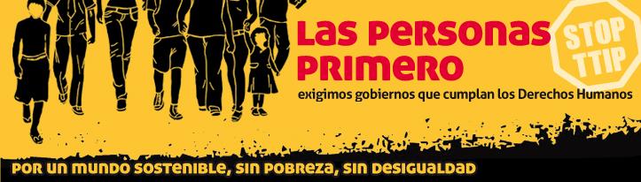 Las personas primero Dia contra pobreza