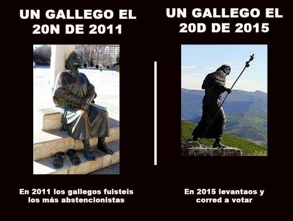 Votar Abstención gallegos 2011 2015