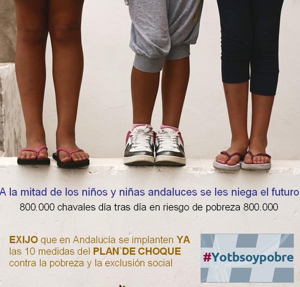 Andalucia Pobreza infantil anuncio