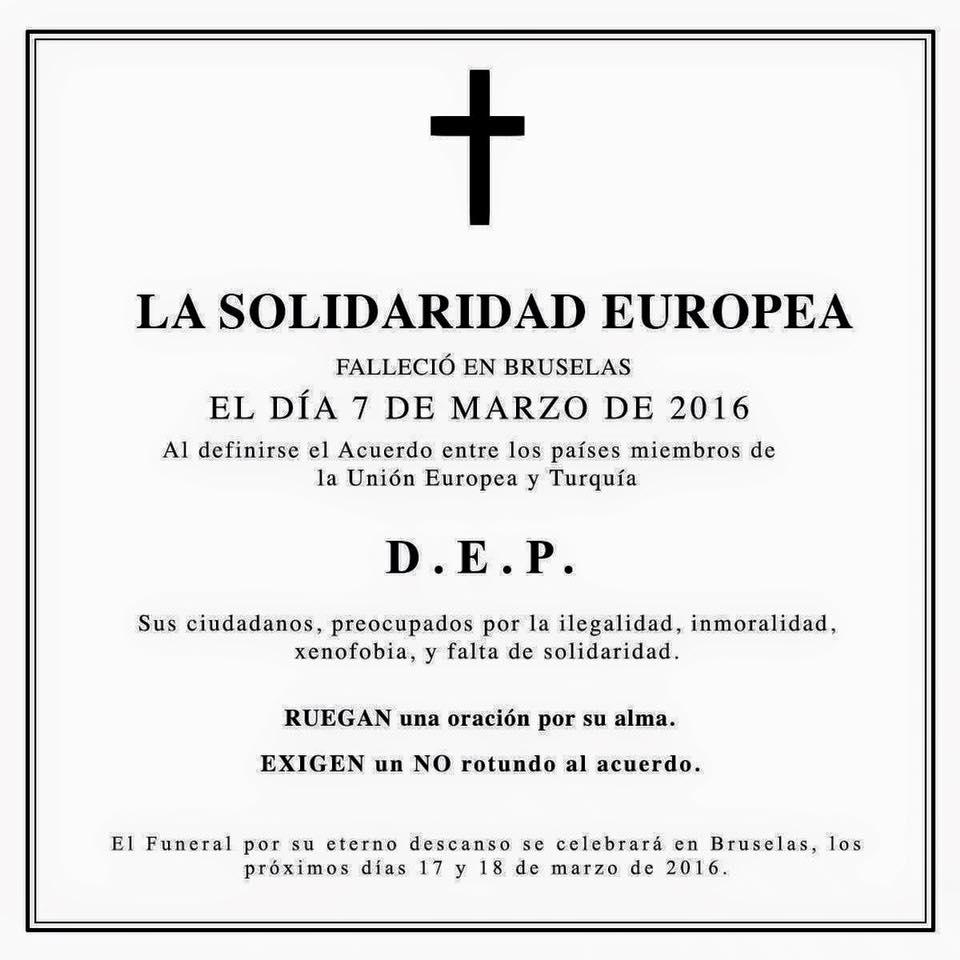 Refugiados RIP solidaridad europea