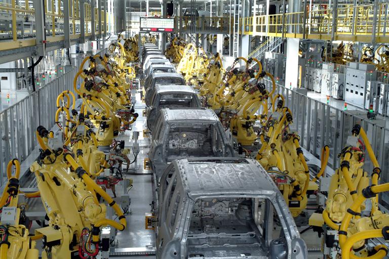 Robots maquinas trabajo