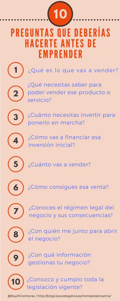 10 Preguntas emprendedor