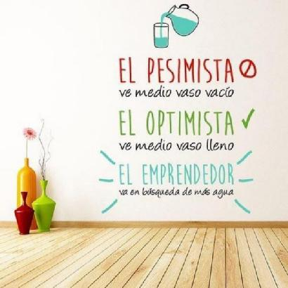 Emprender optimismo pesimismo