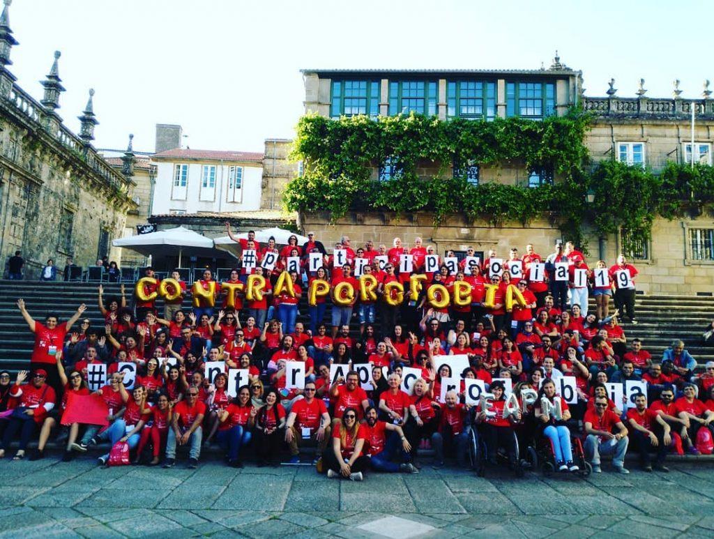 Presentacion campaña Contra Aporofobia de EAPN España en Santiago de Compostela 27 de junio de 2019