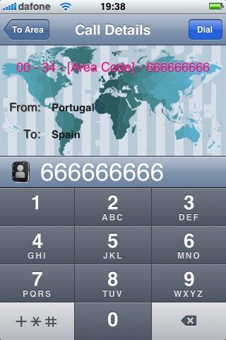 Asistente para llamadas internacionales