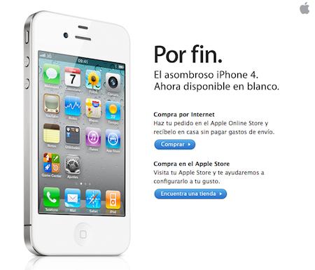 iPhone 4 blanco. Ya nadie lo creía