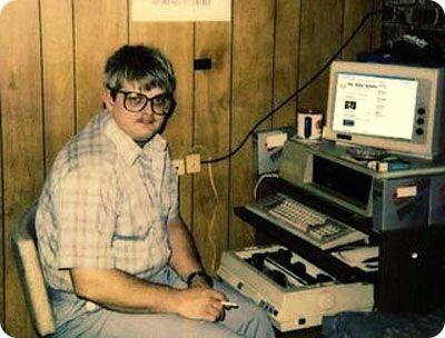 Imagen típica del amigo informático