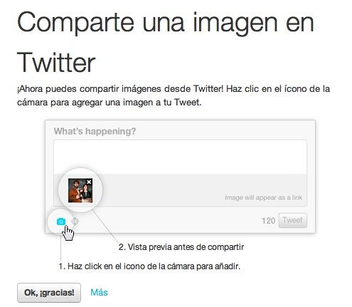 Subir imágenes a Twitter por fin posible desde su web Twitter.com