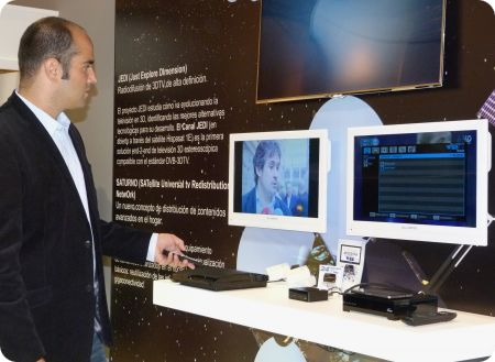 Blusens y su Web:TV con Hispasat