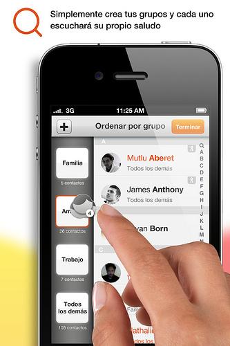 ON Voicefeed permite ordenar grupos de contactos
