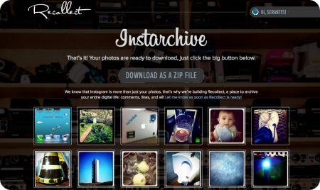 Descargar archivo .zip de Instarchive