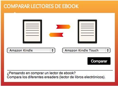 Disposición del comparador de lectores de libros electrónicos