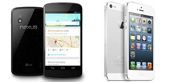 iPhone 5 y Nexus 4. Cuestión de gamas