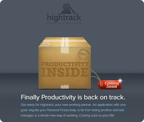 Hightrack - App de productividad de Berto Pena