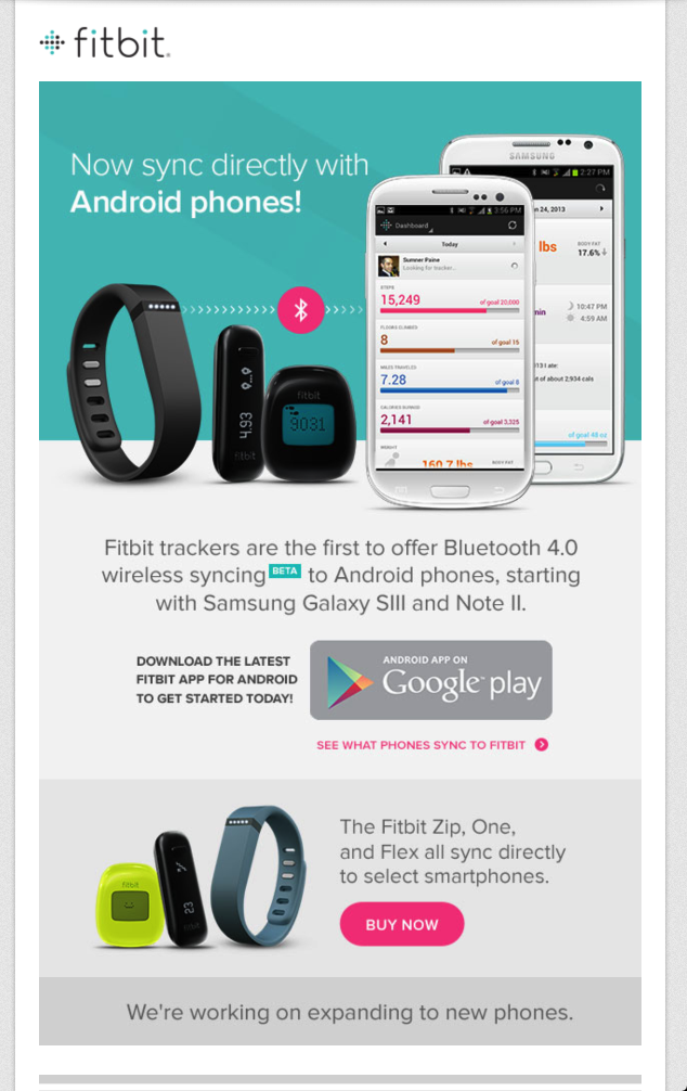 Sincronizacion Fitbit y Android