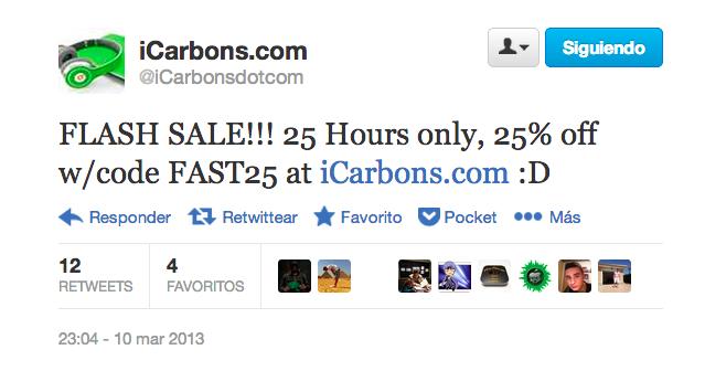 Descuento del 25% en iCarbons