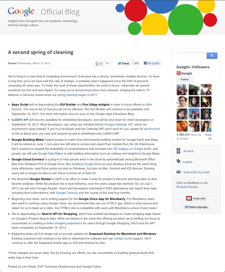 Sprint clean de Google