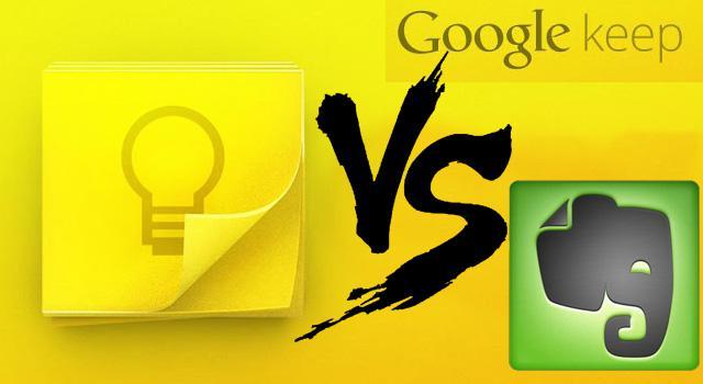 Google Keep contra Evernote (vía http://marcianos.com.mx)