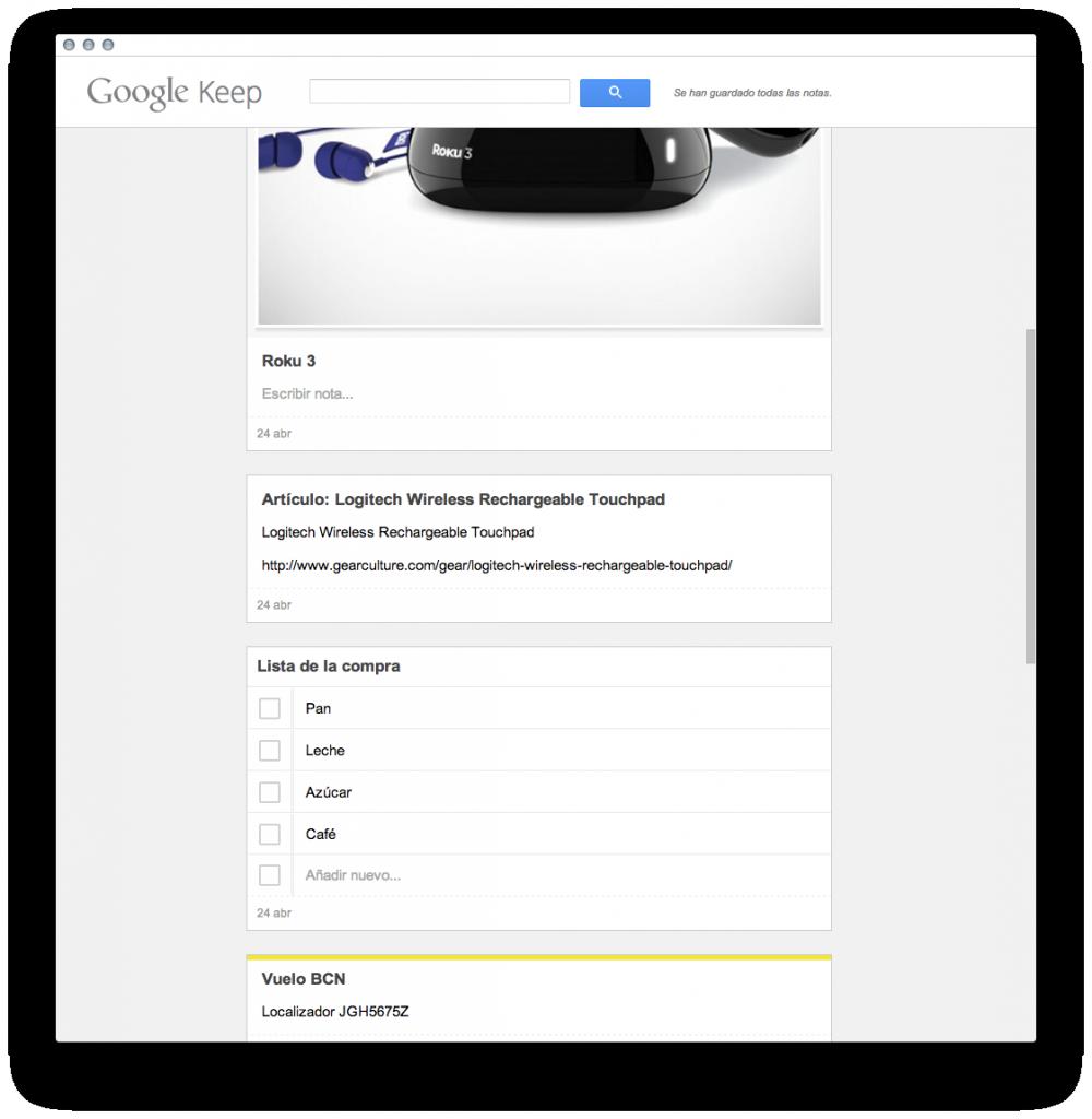 Google Keep para Google Chrome