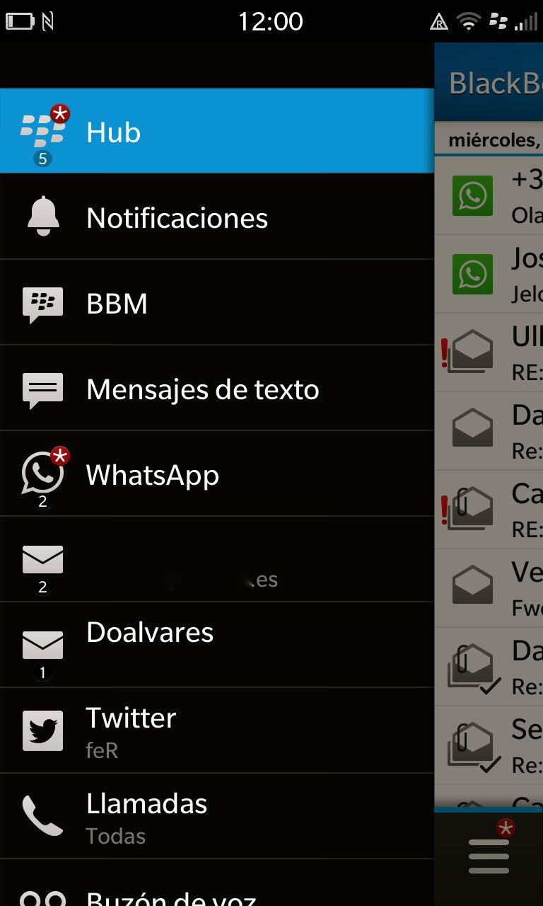 WhatsApp se integra completamente en el Hub de notificaciones de Blackberry 10
