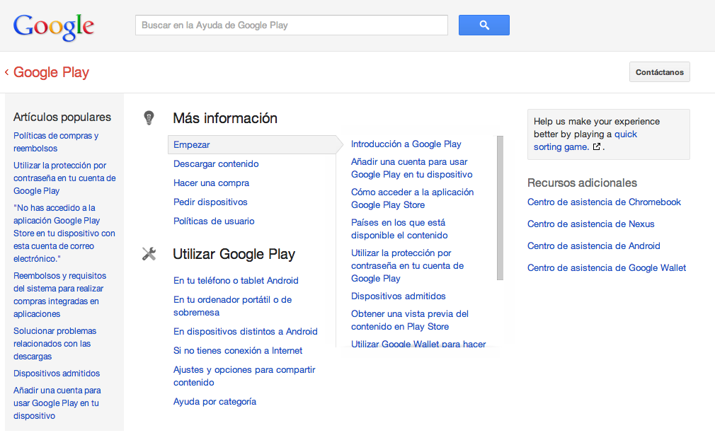 Asistencia Google Play