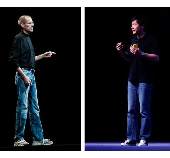 Imagen de Steve Jobs y Lei Jun