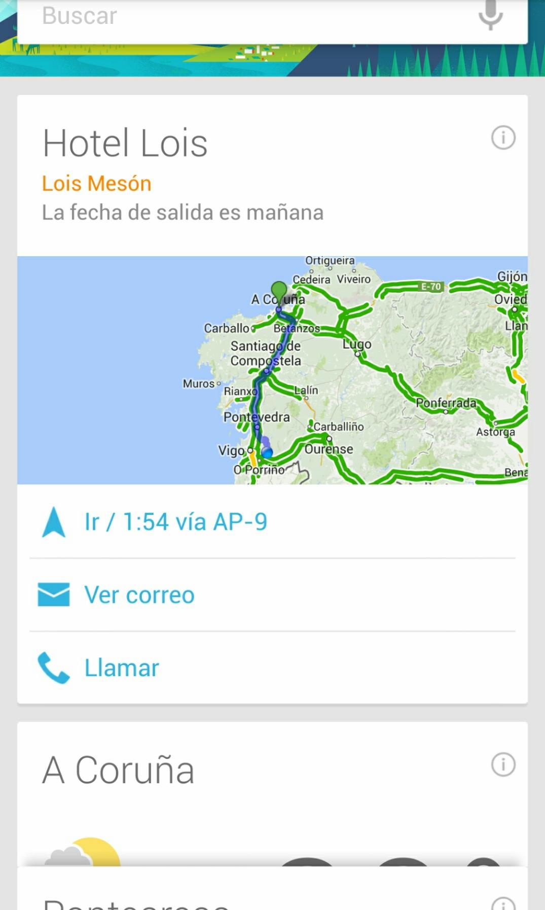 Google Now te muestra tus reservas hoteleras (también en español)
