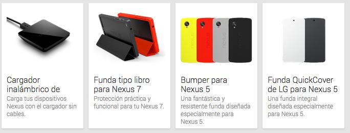 Ya se pueden adquirir los accesorios de la gama Nexus