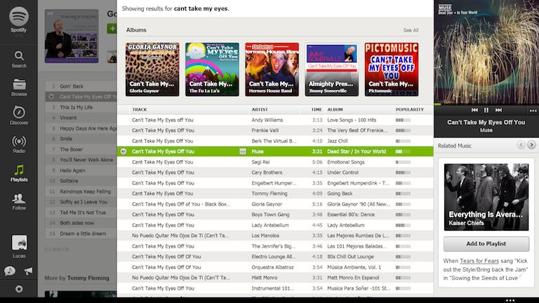 Spotify en web