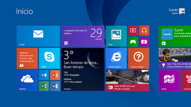Windows 8.1 RT en una Surface 2 como equipo único