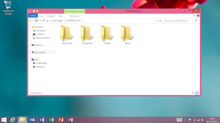 Modo escritorio en Windows 8.1 RT
