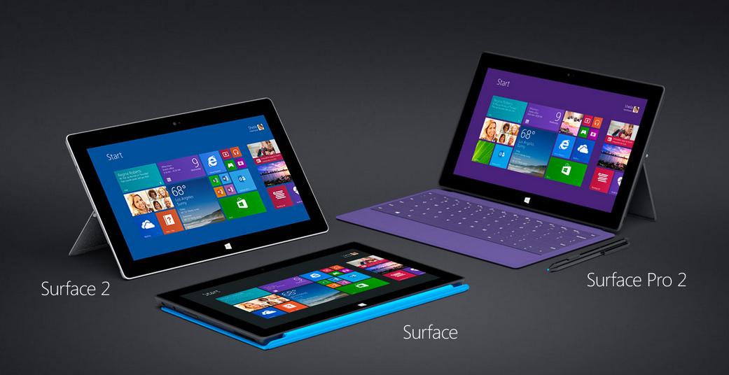 Microsoft Surface 2 y Surface Pro frente al iPad y otras tabletas