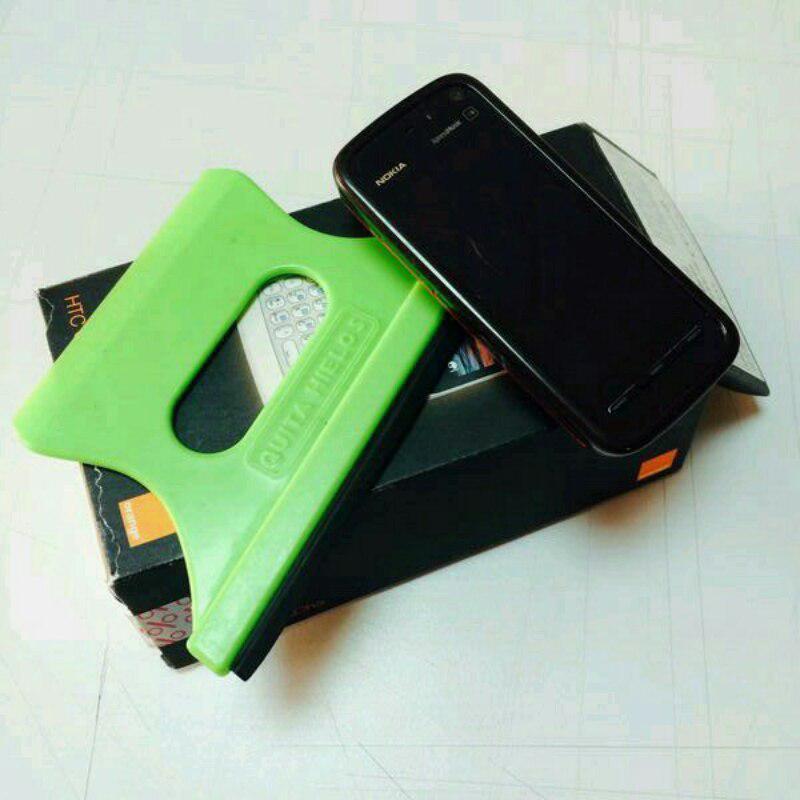 La rasqueta verde Lumia androide